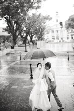 Rain on your wedding day = good luck! | photo by Harwell Photography