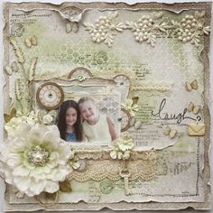 VIDEO TUTORIAL: Scrapping Softly {Monochromatic Page}