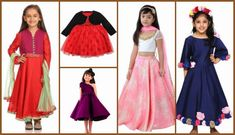 Indian Wedding Dresses for Little Girls by Top Indian Designers, Kidology, PinkBlueIndia, Kids Chakra, etc. Indian wedding outfits, kids Ethnic wear, ethnic dresses, gowns