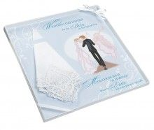 zakdoekje voor de bruid - handkerchief for the bride. cute gift idea!