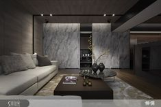 Due to the leap forward of the system plate printing technology and design application, the space division and storage can make a concealed but consistent overall contour. Modern House Design, Modern Interior Design, Modern Classic Bedroom, Asian House, Interior Concept, Living Area, Living Room Designs, Decoration, Contour