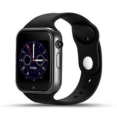 LEMFO Smart Watch Cell Phone Fitness Tracker Bluetooth WristWatch with Camera for Android Smartphones (Black) >>> More info could be found at the image url.