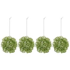 Get Lime Green Twisted Metal Glitter Ball Ornaments online or find other Christmas Ornaments products from HobbyLobby.com