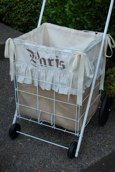 I have a cart like this....now just need to make a pretty liner!
