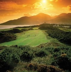 Ireland Golf - Amazing view of the Royal County Down Golf Club in Ireland.