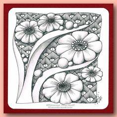 Excellent Drawing Faces With Graphite Pencils Ideas. Enchanting Drawing Faces with Graphite Pencils Ideas. Flower Doodles, Zen Doodle Art, Zentangle Artwork, Drawings, Tangle Doodle, Flower Drawing, Zentangle Patterns, Pattern Art, Zen Art