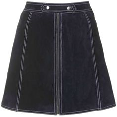 TOPSHOP Suede Button Tab Skirt (1.075 ARS) ❤ liked on Polyvore featuring skirts, mini skirts, topshop, navy blue, a line skirt, navy skirt, short mini skirts, women skirts and a line mini skirt