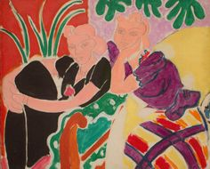 huariqueje: The Conversation - Henri Matisse , 1938 French oil on canvas; x 21 ¾ in. cm x cm) © Succession H. Matisse / Artists Rights Society (ARS), New York. Henri Matisse, Matisse Kunst, Matisse Art, Matisse Paintings, Picasso Paintings, Raoul Dufy, Art Fauvisme, Maurice De Vlaminck, San Francisco Museums