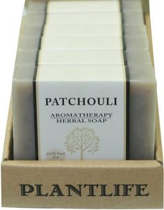 Value 6 Pack-Patchouli 100% Pure & Natural Aromatherapy Herbal Soap- 4 oz each by Plantlife. $25.50. Patchouli's earthy aroma is said to enhance stability and heighten one's sensuality. The perfect soap to use before meditation or romance.. Its lingering aroma stays on the skin and is excellent for dry, cracked, chapped, inflamed or aged skin.. 6 Pack of Pathouli Aromatherapy Soap- 4 oz each.  Save .65 per bar by buying in 6 pack. Pure and Natural, Nothing Synthetic. Gentle ...