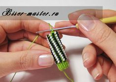 6(j): Please note , the beads are arranged diagonally instead of vertically as in weaving polustolbikom .