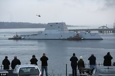 The U.S. Navy's new $4.3 billion stealth destroyer, the future USS Zumwalt, assisted in th...