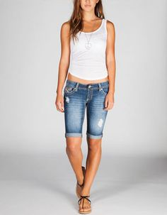 Grace in L.A. Embellished Patch Bermuda Shorts | Cowgirl Style ...