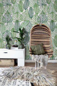 Papel pintado - Hoja papel tapiz removible patrón   Fotomural - hecho a mano por coloray en DaWanda