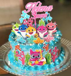Shark Birthday Cakes, 2nd Birthday Party For Girl, Happy Birthday Funny, Card Birthday, Funny Happy, Birthday Greetings, Birthday Ideas, Bolo Do Paw Patrol, Paw Patrol Cake