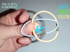 I made this project forever ago, but I wanted to go back and take some pictures of the rubber bands and show you how to make the knot bef...