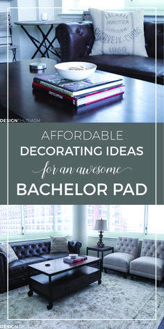 Affordable decorating ideas for an awesome bachelor pad | Bachelor pad decor ideas | masculine apartment, bedroom, living room, on a budget, | Modern industrial interior style | designthusiasm.com