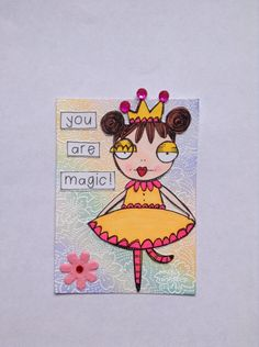 Sassy Monster Crafts: You are Magic ATC using a digital stamp from Vera Lane Studio
