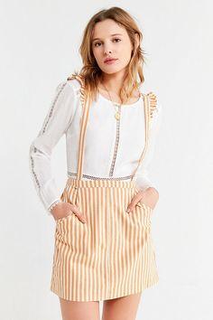 ac06e22b660c8 UO Rosie Ruffle Skirtall Overall   Urban Outfitters Urban Outfitters Women,  Overall Dress, Latest