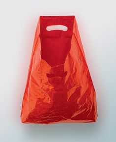 "Anna Barriball, Bag Drawing (2000), marker pen on carrier bag.""It was about bringing the object up close to meet the drawing, of not having the translation between looking at something and describing something."" In Making Contemporary Sculpture"