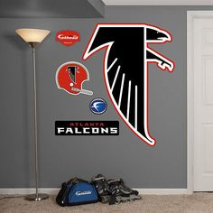 Fathead Atlanta Falcons Classic Logo Wall Graphic - Wall Sticker Outlet