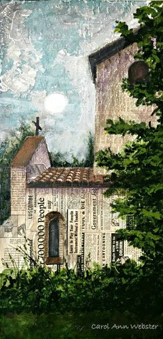 Mixed Media Art Using Textures and Layers for an Aged Look — Carol Ann Webster
