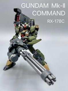 HGUC Gundam Mk-II Command custom – GUNJAP Combat Knives, Real Style, Kamen Rider, Telescope, Gundam, The Darkest, Robots, Concept, Robot