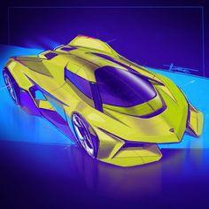 The Lambo challenge lives on! Car Design Sketch, Truck Design, Car Sketch, Lamborghini Concept, Muscle Cars, Flying Car, Futuristic Cars, Car Drawings, Automotive Design