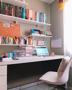 Room Design Bedroom, Girl Bedroom Designs, Room Ideas Bedroom, Home Room Design, Bedroom Decor, Study Room Decor, Aesthetic Room Decor, Dream Rooms, Girl Room