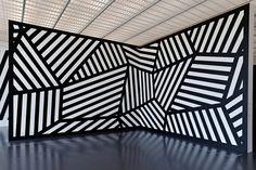 Expo Sol LeWitt Centre Pompidou Metz. Reminds me of razzle dazzle camouflage.