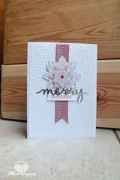 Magical Scrapworld: Christmas card, Stampin' Up!, flurry of wishes, softly falling, holly jolly greetings