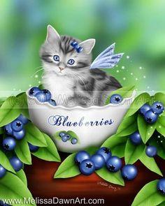 Melissa Dawn Blueberry Kitten by Melissa Dawn Art