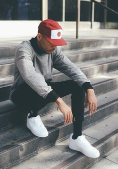 "Via iloveugly - the hat, sneakers ... the whole look is clean/simple, but still feels like: ""Dammmmnnn"""