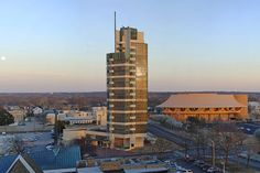 The 10 Frank Lloyd Wright Buildings That Received UNESCO Nominations.  Price Tower, built from 1952 to 1956, Bartlesville, Oklahoma.