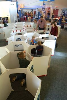 The great maze of the Kohl Children's Museum provides great fun for kids!
