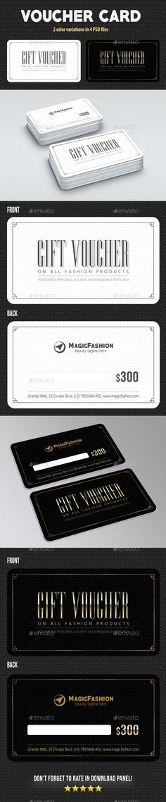 Voucher Card 02  — PSD Template #presents #gift cards • Download ➝ https://graphicriver.net/item/voucher-card-02/18279591?ref=pxcr
