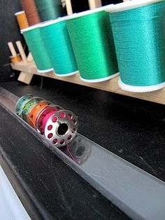 This is such a brilliant way to organize your bobbins! And crazy simple.