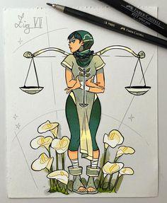 Illustrator and Comic Artist Gabriel Picolo. Gabriel Picolo is a famous comic artist and illustrator from Sao Paulo Brazil. Arte Libra, Libra Art, Aquarius And Libra, Sagittarius, Anime Zodiac, Zodiac Art, Astrology Zodiac, Zodiac Signs, Gabriel Picolo