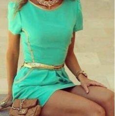 #nice #colour #dress  #blue