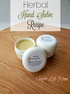 Having a great herbal hand salve recipe on hand is important for soothing and healing cracked heels, or dry, split hands from harsh winter weather. Natural.