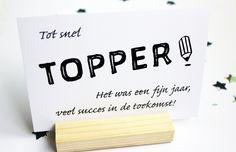 Kaart Topper, het was een fijn jaar! door JolisMots op Etsy