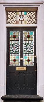 Emma Blount, specialist in stained glass restoration of Victorian front doors, London UK