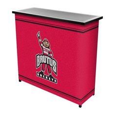 Trademark Games Ohio State Buckeyes Portable Mascot Bar, Team