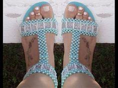 Sandália de perolas, simples, linda mas Estilosa, por Maguida Silva - YouTube