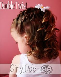 beautiful little girl hair style.  Looks a little complicated, and my daughter probably doesn't have enough hair.