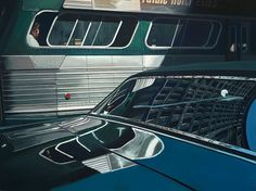 Like stage sets, there seem to be a million stories embedded in the works of Richard Estes, icon of photorealism