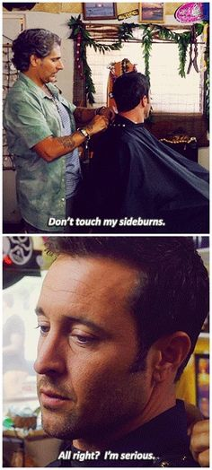 Don't touch Steves sideburns
