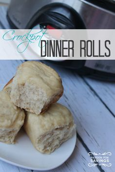 "Previous pinner: ""Easy Crock Pot Dinner Rolls Recipe! Easy Bread Recipe for Christmas and the Holidays!"" -- SH: Intrigued by this concept..."