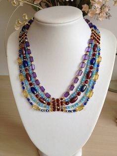 Jewel of the Nile Necklace by TwinklingGems on Etsy, £35.00