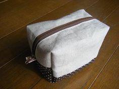 【作り方公開中】内布付きボックスポーチ   handmade*peanutsmama* - 楽天ブログ