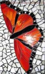 Master class on mosaic: Butterfly Glass http://www.mastera-rukodeliya.ru/mozaika/1030-mozaika-babochka.html